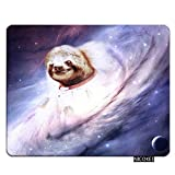 Nicokee Sloth Gaming Mousepad Animal Sloth Galaxy Starry Sky Mouse Pad Rectangle Mouse Mat for Computer Desk Laptop Office 9.5 X 7.9 Inch Non-Slip Rubber