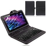 NAUC® Tablet Tasche USB Tastatur QWERTZ Keyboard für Medion Lifetab S10321 Hülle
