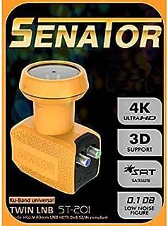 Senator ST-201 Ku-Band Universal Twin LNB - Yellow