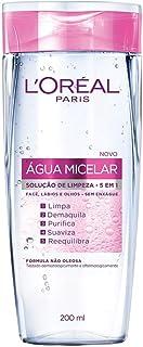 Água Micelar L'Oréal Paris Solução de Limpeza 5 em 1, 200ml