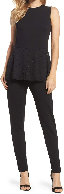 Eliza J Women's Embellished Popover Solid Jumpsuit