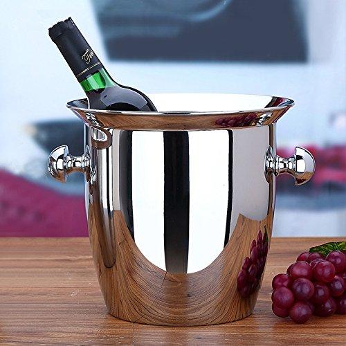 Eiskübel Bier Wein Kühler Champagner Eimer Wein Eimer mit Griff Verdickter Edelstahl 2L-5L (5L)
