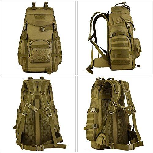 zaino 60 litri militare 60L Tactical Militare Escursionismo Zaino Molle Assault Grande Borsa Impermeabile Outdoor Zaino