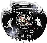 wwccy Diseño de Paisaje Urbano Reloj de Pared de Vinilo con Paisaje Urbano alemán
