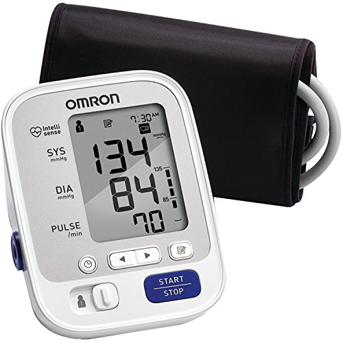 OMRON 5 Series Upper Arm Blood Pressure Monitor; 2-User, 100-Reading Memory, Soft Wide-Range Cuff, #1 Dr. Recommended by OMRON