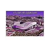 JIANGJUNT Stade Velodrome Poster, dekoratives Gemälde,