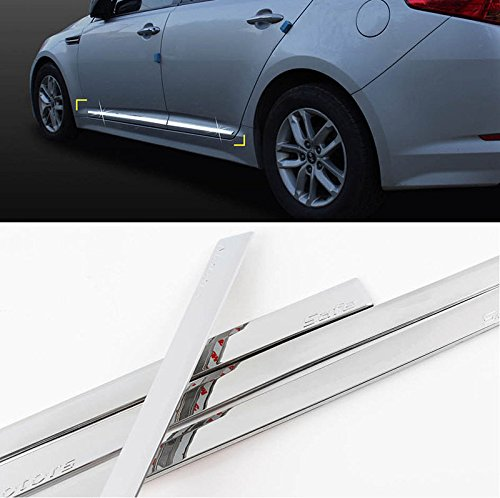 Price comparison product image Automotiveapple Sell,  Safe d039 Chrome Door Side Skirt Accent Line Sill Molding Trim Garnish 4-pc Set for 2011~2015 Kia Optima : K5