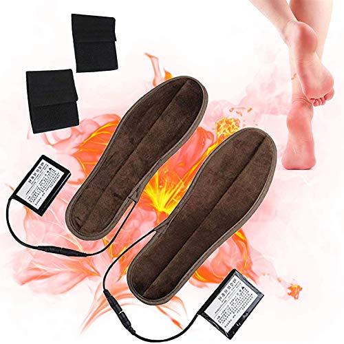 HYDDG Plantillas calentadoras de pies, plantillas calentables recargables, 3 niveles de calefacción, plantillas térmicas de invierno para caza al aire libre