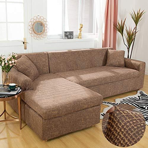 SHIM Cubiertas ángulo de poliéster sofá Fundas de Animales Cobertura de expansión elástica salón de Cobertura 25 Color 1PC 1 Asiento 90 140cm