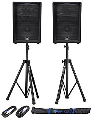 "(2) JBL Pro JRX212 12"" 2000w Passive 8 Ohm PA/DJ Speakers+Stands+Cables JRX 212 from JBL"
