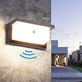 Aussenleuchte mit Bewegungsmelder LED Wandleuchte Bewegungsmelder Aussen 18W Wasserdicht IP65...
