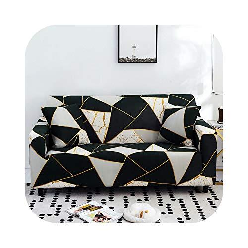 Henraly - Funda de sofá con diseño de flores, funda elástica de algodón, fundas de sofá antideslizantes, incluye para salón de esquina, 245 – 300 cm