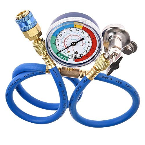 Super1Six R134A R22 R12 Kältemittelaufladung Schlauchleitung, Auto Klimaanlage Reparaturwerkzeug Klimaanlage Fluoridrohr Kaltdruckmesser (Color Name : C)