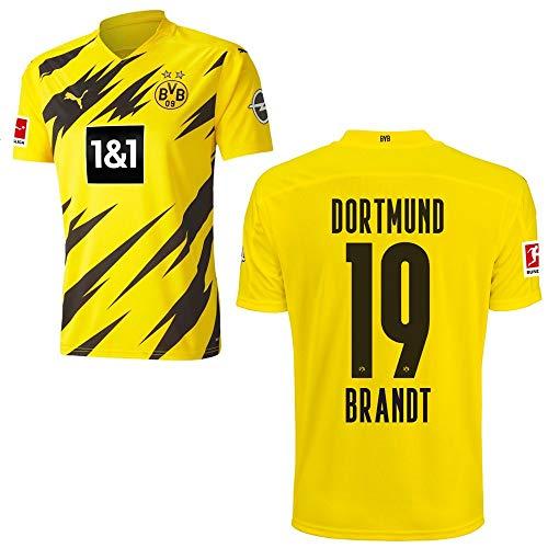 PUMA Borussia Dortmund BVB Heimtrikot 2020 2021 Home Trikot Sponsor BL Logo Kinder Julian Brandt 19 Gr 128