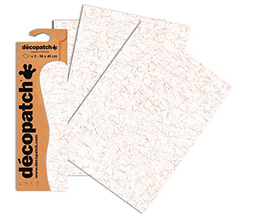 Decopatch Papier No. 444 (weiß gold, 395 x 298 mm) 3er Pack