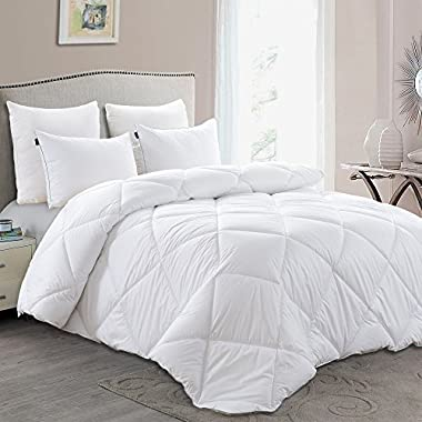 Basic Beyond Lightweight Down Comforter (Queen) - Luxury Down Duvet Insert with Super Soft Shell, Hotel Quality Comforter and Hypoallergenic,100% Plush White Down Fill