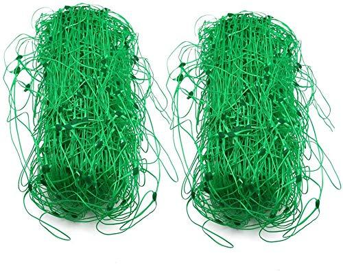 ECHG 2Pcs 4 x 1.7m Garden Netting Plastic Trellis Net Plant Pea Netting for Bean Fruits Vegetables Climbing Plants(Green)