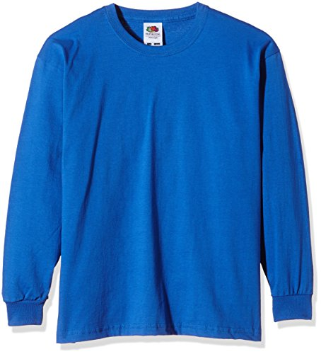 Fruit of the Loom Mädchen T-Shirt SS019B, Blau (Königsblau), 10-11 Jahre