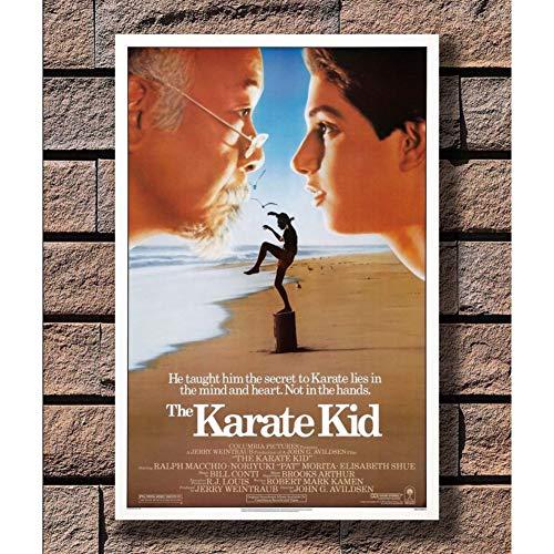 ZHINING Carteles e Impresiones 1984 Película clásica The Karate Kid Imagen Lienzos Carteles e Impresiones Impresión HD Pintura al óleo Mural Sala de Estar Decoración del hogar Pintura sin Marco