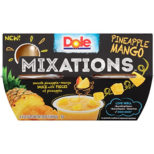 Dole Mixations Fruit Bowl, Pineapple Mango, 4 Ounce, 4 Cups