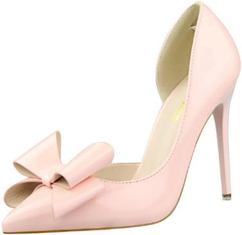 Quality.A Bow Stilettos Elegant Professional Women's shoes Temperament high Heels