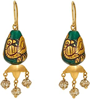 Gehna 18k (750) Silver Drop Earrings for Women