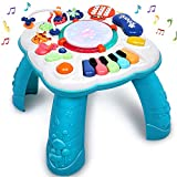 HINZER Baby Toys Toddler Activity Tables for Baby 6 9 12 Months Infants Baby Educational Learning Toys Baby Musical Toys Learning Table Toddler Boys & Girls Toys for 1 2 3 Years Old