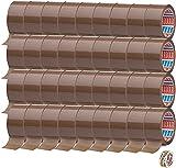 TESA 36 rollos de cinta adhesiva marrón 64014 – 50 mm x 66 m – cinta adhesiva de embalaje silenciosa + cinta adhesiva gratis [15 mm x 10 m]