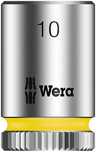 """Wera 05003509001 Llave de Vaso con Arrastre, 1/4\"""", 10 mm"""