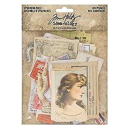 Tim Holtz, Advantus TH93958 Ephemera Pack Keepsakes Printed Memorabilia Multicolor