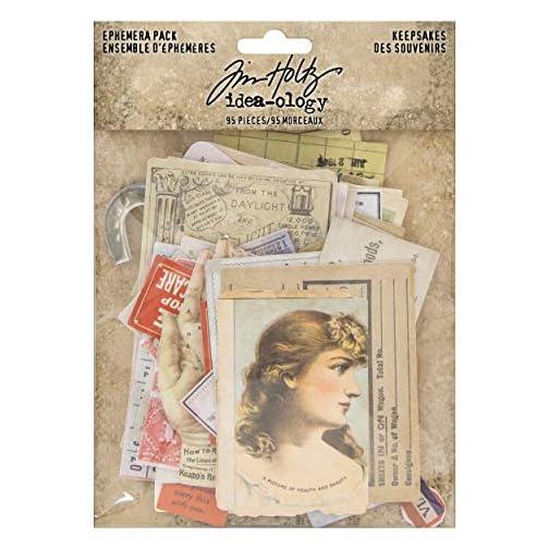 Tim Holtz, Advantus TH93958 Ephemera Pack Keepsakes Printed Memorabilia Multicolor |