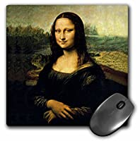 3drose LLC 8x 8x 0.25インチマウスパッド、モナリザ(MP 556_ 1)