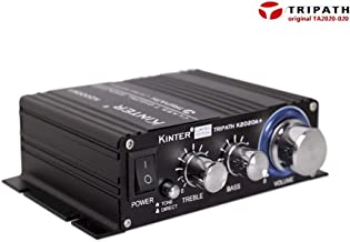 Kinter K2020A+ Limited Edition Original Tripath TA2020-020 Class-T Hi-Fi Audio Mini Amplifier with 12V 5A Power Supply Black