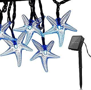 Solar String Lights Decoration Light, 30 LED Fairy Christmas Light Starfish Halloween Decorative Lighting for Garden Home ...