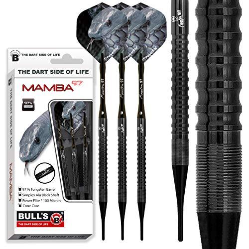 Bull's Erwachsene M1 Soft Dart 18 g Mamba-97, Schwarz, 18g