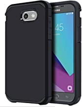 for Samsung Galaxy J3 Emerge / J3 Prime / J3 Mission / J3 Eclipse / J3 2017 / J3 Luna Pro/Sol 2 / Amp Prime 2 / Express Prime 2 Case, OEAGO Shockproof Drop Protection Rugged Armor Case Cover (Black)