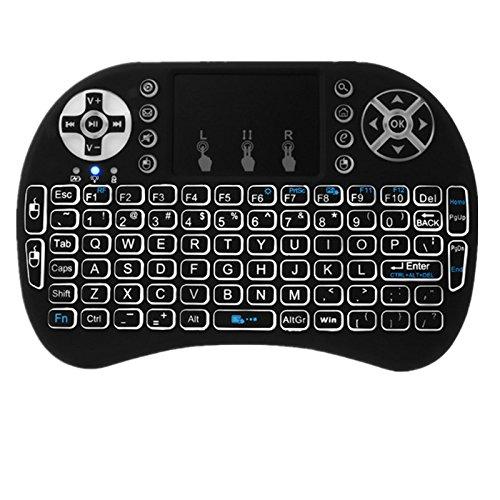 Mini control remoto táctil de 2.4 G para teclado inalámbrico i8 Air Mouse, para Google Android TV Box X92 Z4 T96 PC PS3 Gamepad (negro)