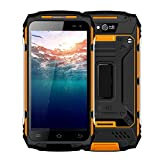 Rugged Cell Phone Unlocked, 4G LTE Guophone U006 IP67 Waterproof, Shockproof, Dustproof Smartphone