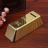 YAOJII Kunststoff Sparschwein Goldbarren Brick Coin Box Fall Geld sparen Box Home Decor
