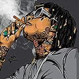 Aka aka Poster Wiz Khalifa Art Rapper, 30,5 x 30,5 cm