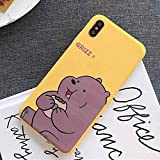 Cute Cartoon We Bare Bears Phone Case Cover, Soft TPU Case for iPhone 6 6s 7 8 Plus X XR XS Max (iPhone 6S Plus)