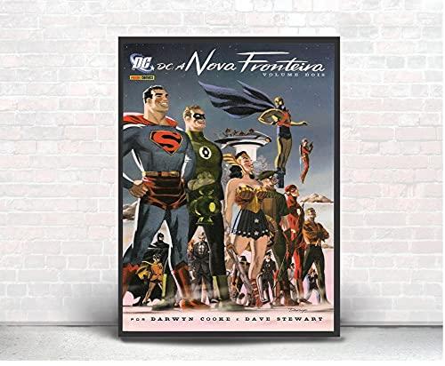 Quadro Decor Poste Liga Da Justiça Nova Fronteira Superman