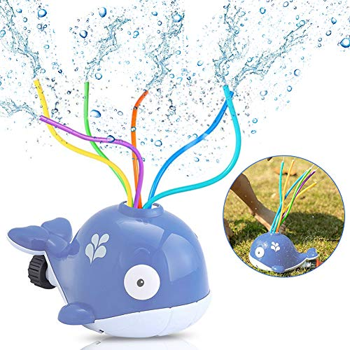 Sunshine smile Sprinkler Kinder,Wassersprinkler Spielzeug im Wal Design für Garten,Wasserspielzeug Sprinkler,Wassersprinkler Garten Kinder,Sprinkler für Outdoor Garten,Wasserspielzeug für Sommer