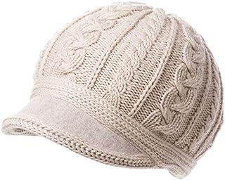 PLL ライスホワイトファッションウィンターハット女性の厚手ウールの帽子ウォームキャップとベルベットニット帽