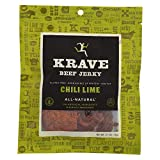 Krave Chili Lime Gourmet Beef Cut, 2.7 ounce -- 8 per case.