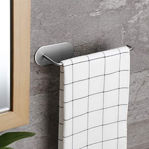 Taozun Hand Towel Holder - Self Adhesive Hand Towel Bar Stainless Steel Towel Rack for Bathroom