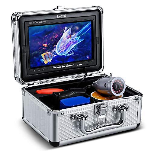 Eyoyo Fischfinder Kamera Unterwasser Fishing mit IPS Monitor Sonnenlicht Lesbarer TFT LCD Bildschirm 1000TVL wasserdichte Kamera 30m (98ft) Kabel Für See EIS Angeln (7-Zoll-IR 30M 1000TVL)
