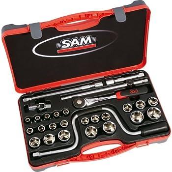 SAM Outillage 75-S27PA - Estuche de llaves de vaso y accesorios (1/2