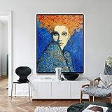 YuanMinglu Moderne Mode Schönheitssalon Leinwand Ölgemälde Poster und Druckgrafik Wandkunst Bild Schönheitssalon Home Dekoration rahmenlose Malerei 37.5X45CM