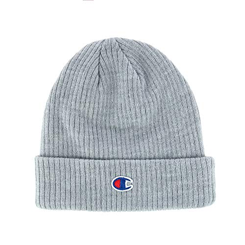 Champion Womens Ribbed Knit Cap (CS4003) -Heather GR -One Size